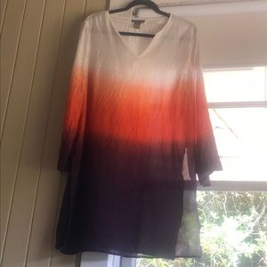 Kenar 100% Silk Tunic Size L